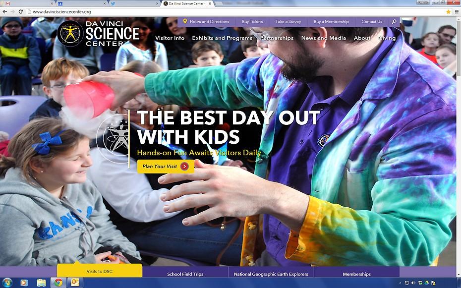 Da Vinci Science Center Website