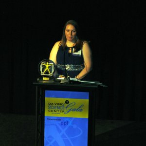 Cassi Williams science teacher at the Jewish Day School of the Lehigh Valley, was recognized with the New Educator Excellence Award.